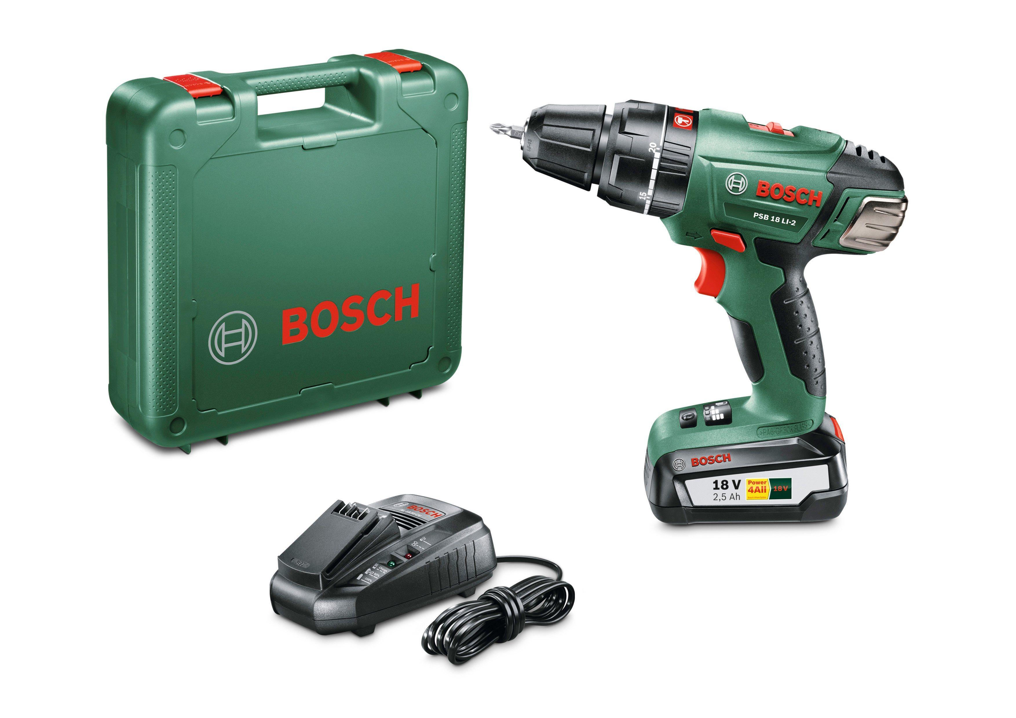 Bosch Akkuschlagbohrschrauber »PSB 18 LI-2« | Baumarkt > Werkzeug > Bohrer und Schrauber | Holz - Metall | BOSCH