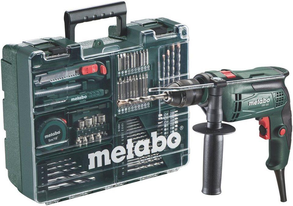 Set: Schlagbohrmaschine »SBE 650« inkl. »Mobiler Werkstatt« in grün