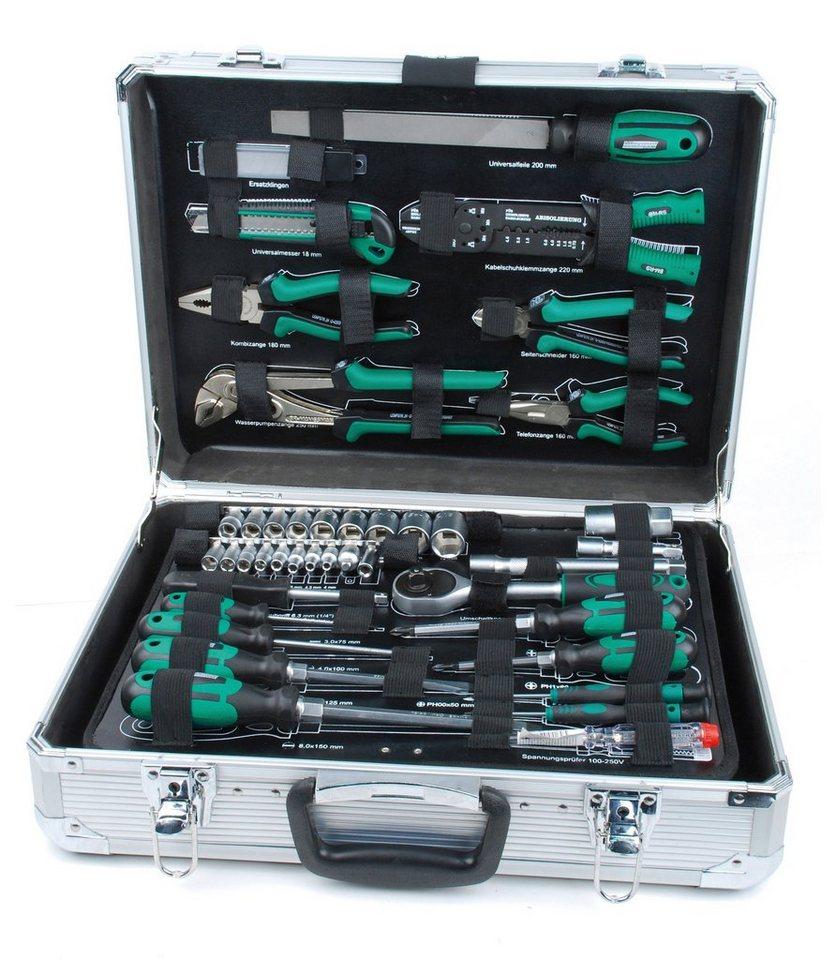 Werkzeugkoffer (108-tlg.) in silberfarben