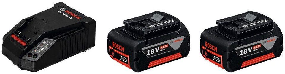 Ladegerät »GBA 18 V + AL 1860 CV«, 18 V 4 Ah in schwarz