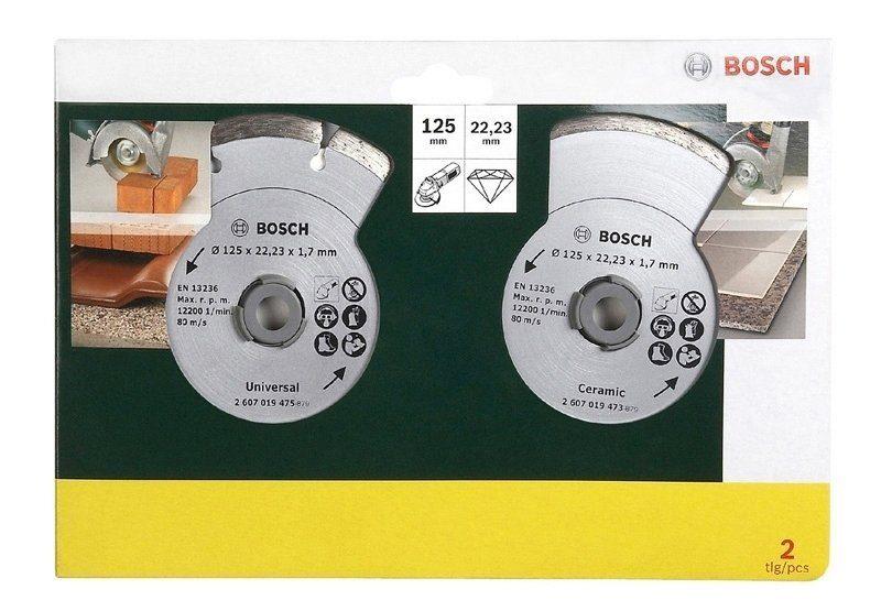 Bosch Diamanttrennscheibe »von Bosch, für Fliesen und Baumaterial, Ø 125 mm (2 Stk.)«