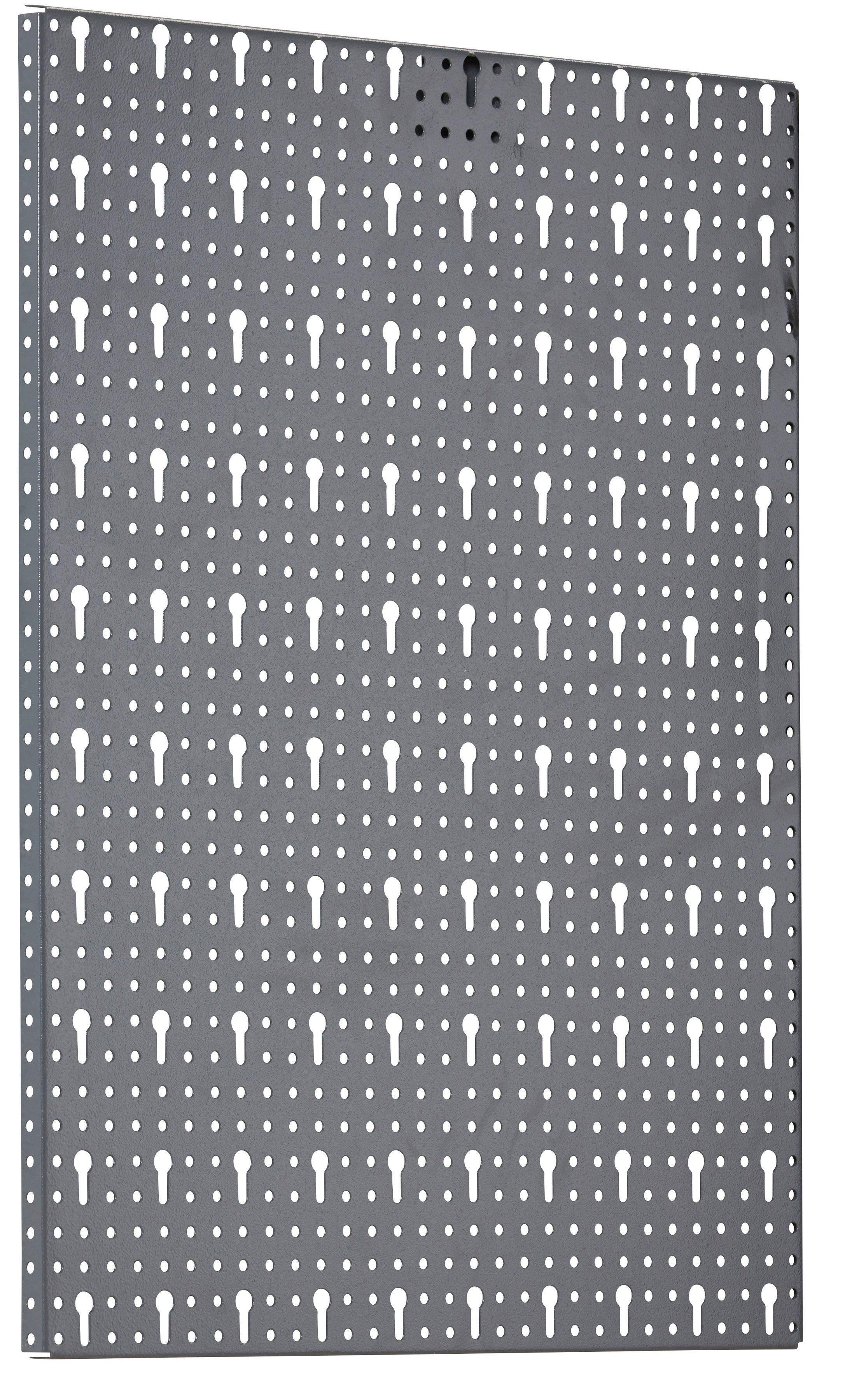 Set: Lochwand »in grau, 170/2/60 cm (22-tlg.)«