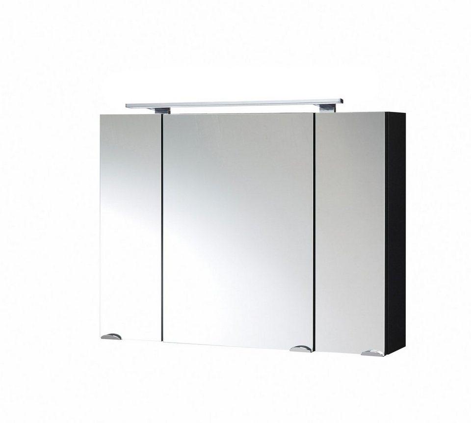spiegelschrank roma breite 80 cm mit led beleuchtung. Black Bedroom Furniture Sets. Home Design Ideas