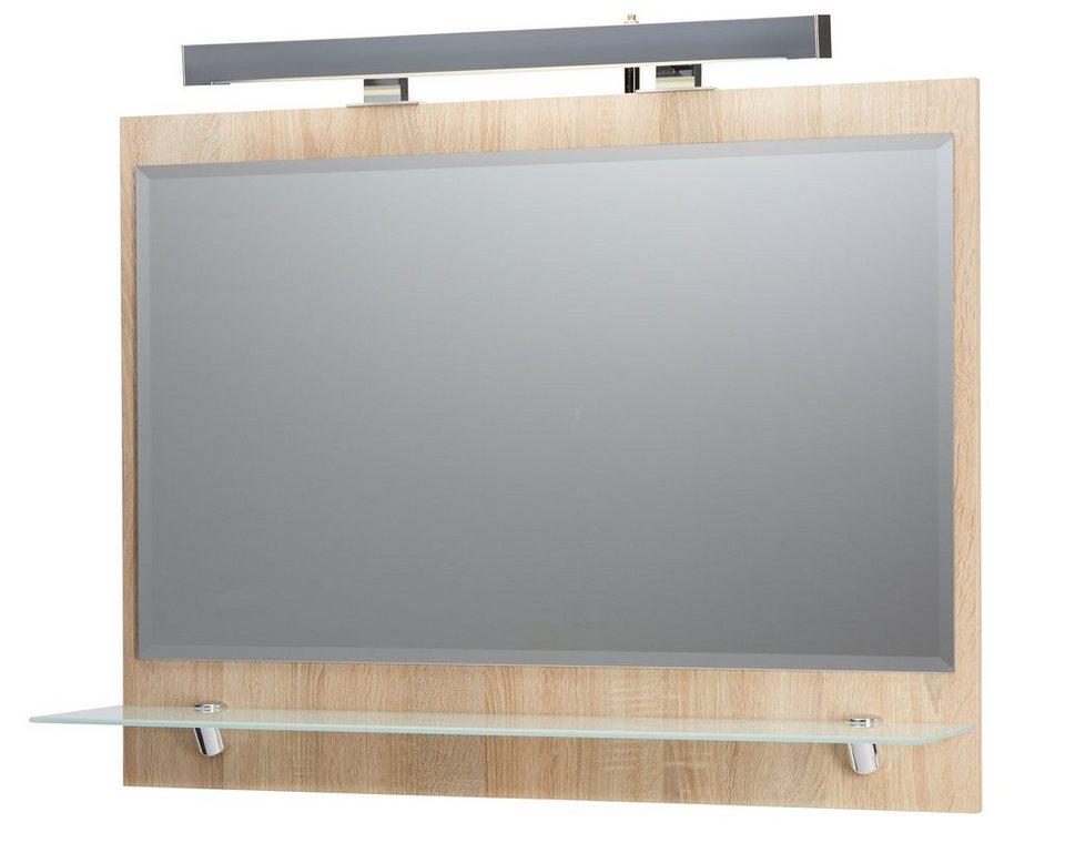 spiegel badspiegel roma breite 90 cm mit beleuchtung. Black Bedroom Furniture Sets. Home Design Ideas