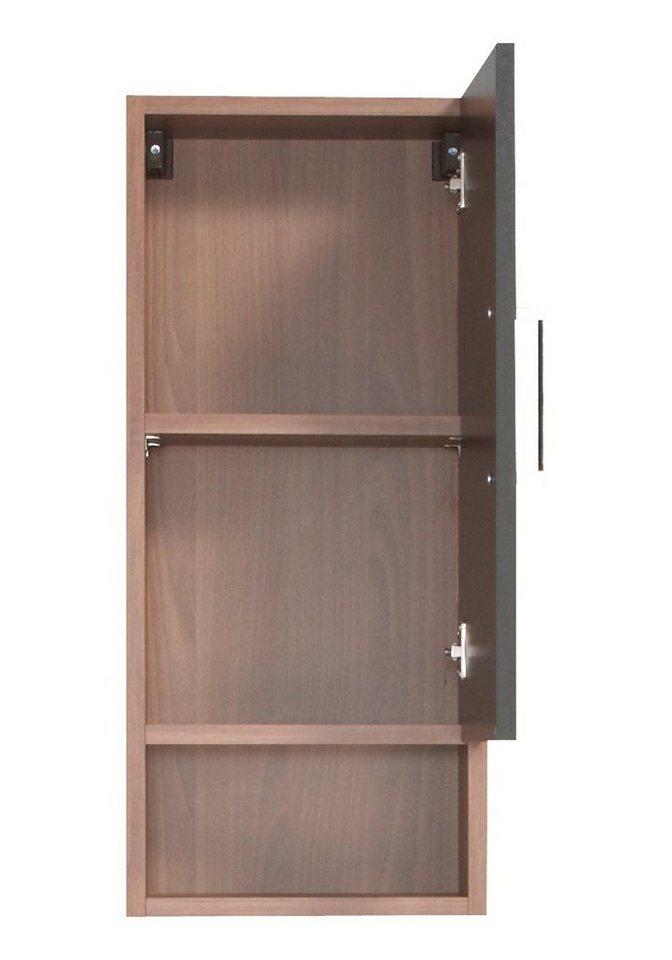 Hängeschrank »Barcelona«, Breite 30 cm in nussbaumfarben/schwarz