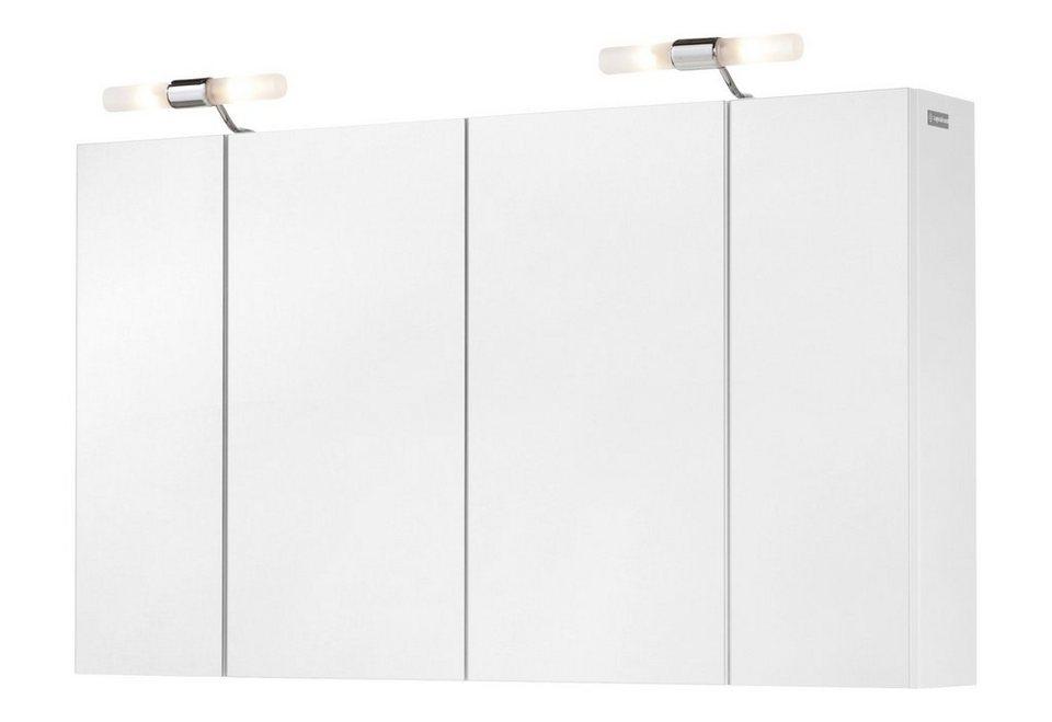 Spiegelschrank »Posen« Breite 103 cm, mit Beleuchtung in weiß