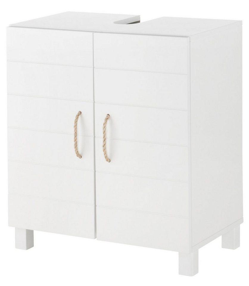 Waschbeckenunterschrank »Mare«, Breite 60 cm in weiß/weiß