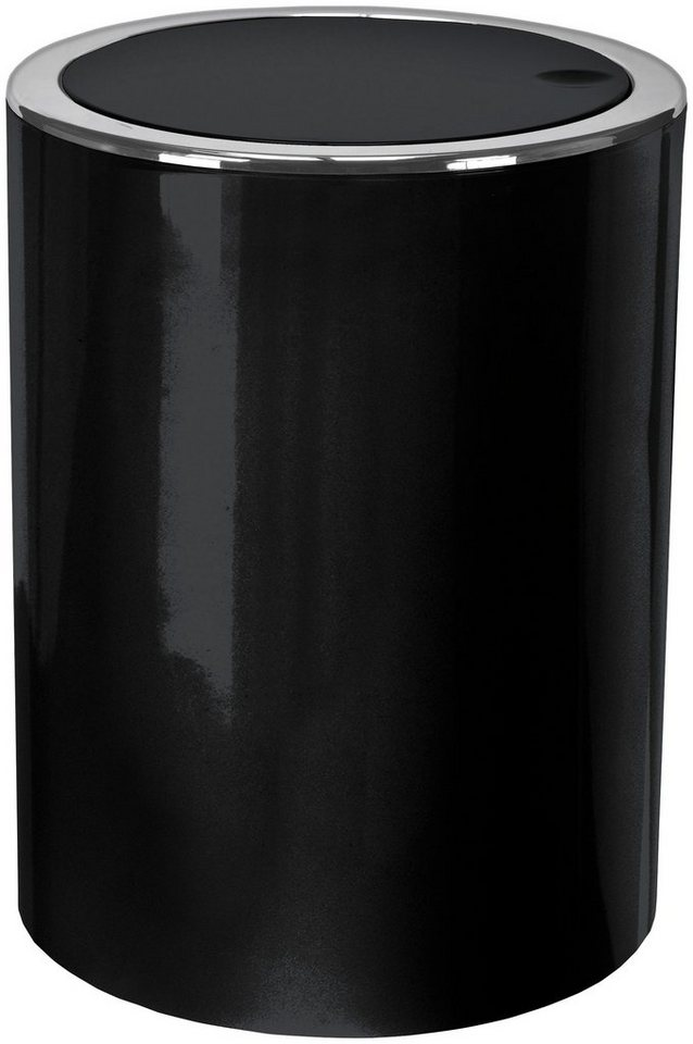 Schwingdeckel-Abfalleimer »Clap« in schwarz