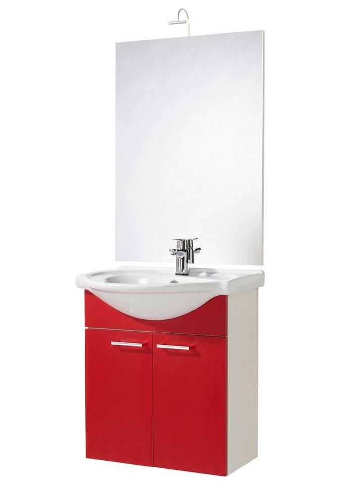 badmobel rot, badmöbel-set »barcelona«, breite 66 cm kaufen | otto, Design ideen