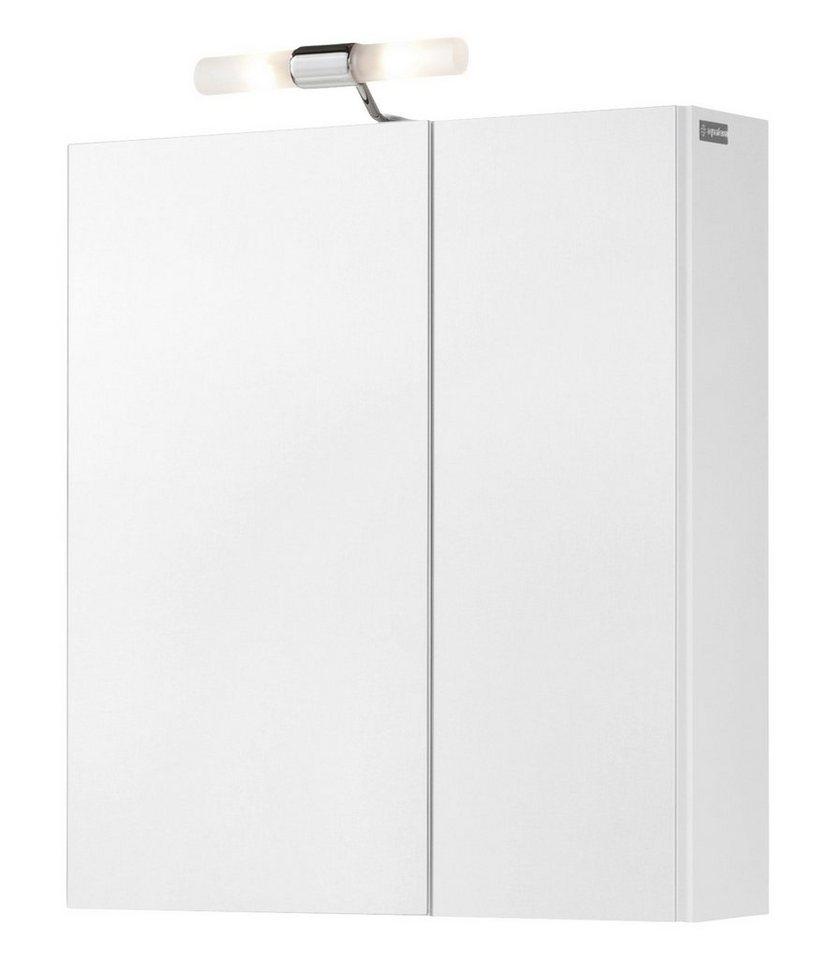 Spiegelschrank »Posen« Breite 61 cm, mit Beleuchtung in weiß