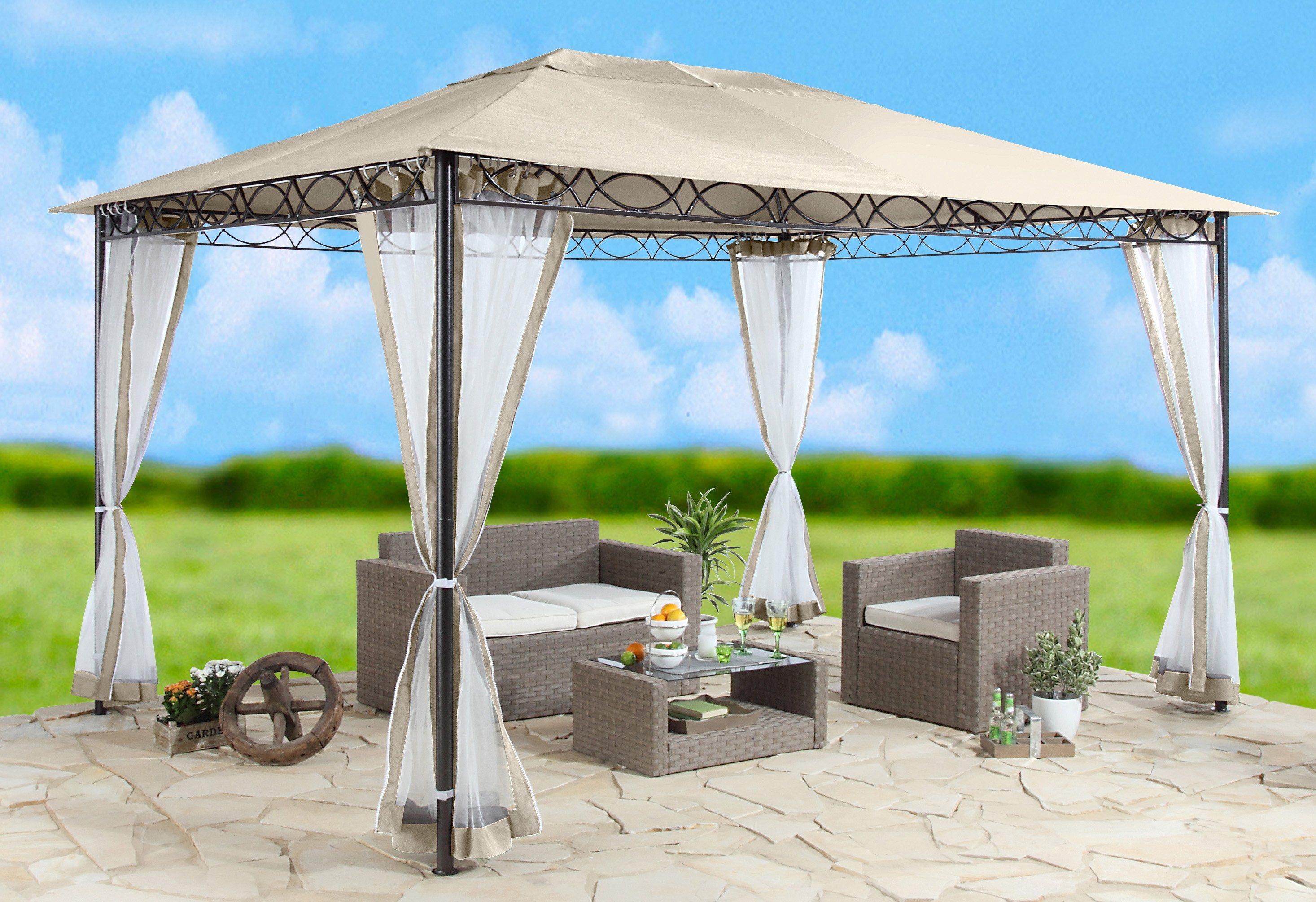 Seitenteile für Pavillon »Stil«, sandfarben   Garten > Pavillons   Polyester