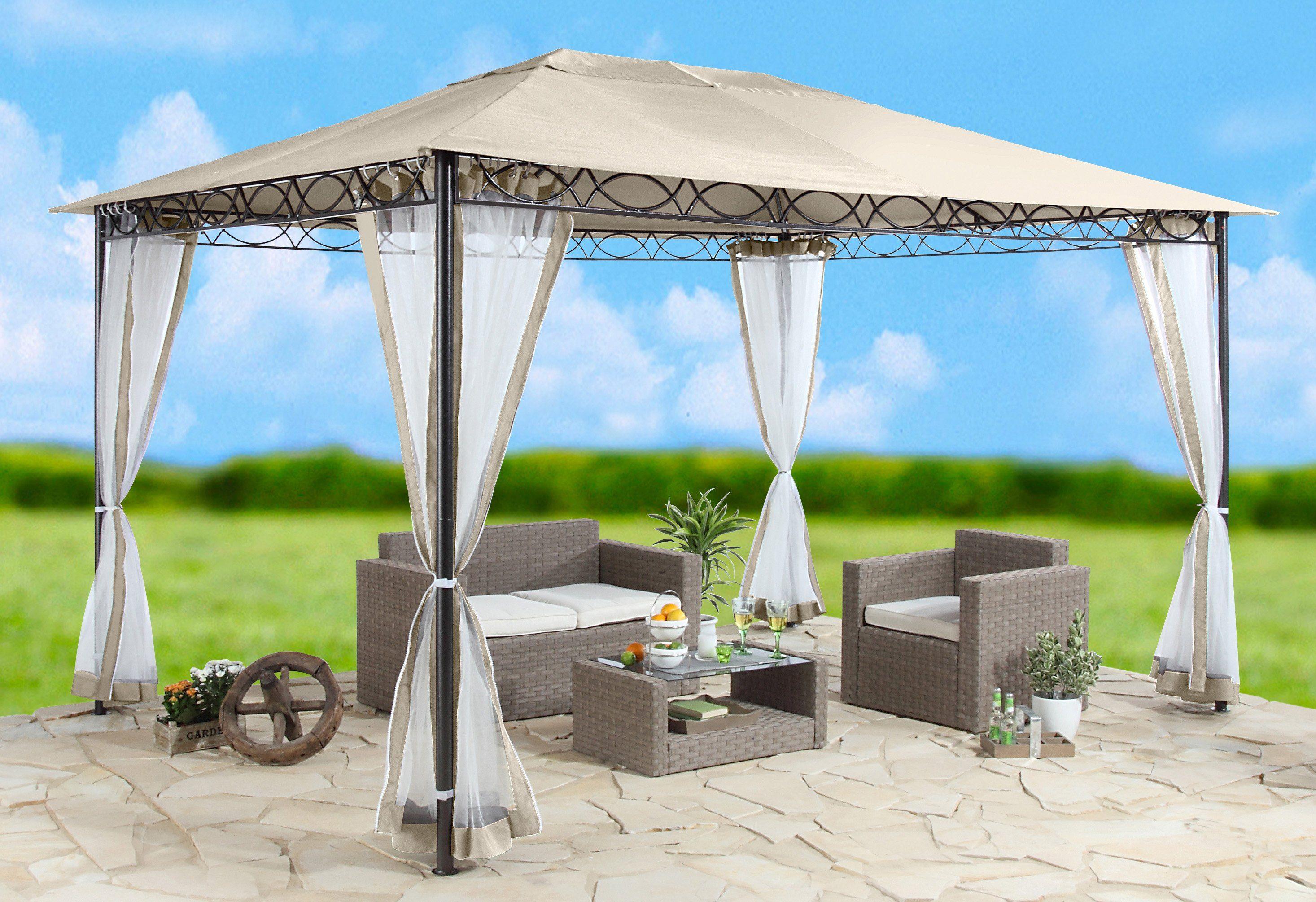 Seitenteile für Pavillon »Stil«, sandfarben