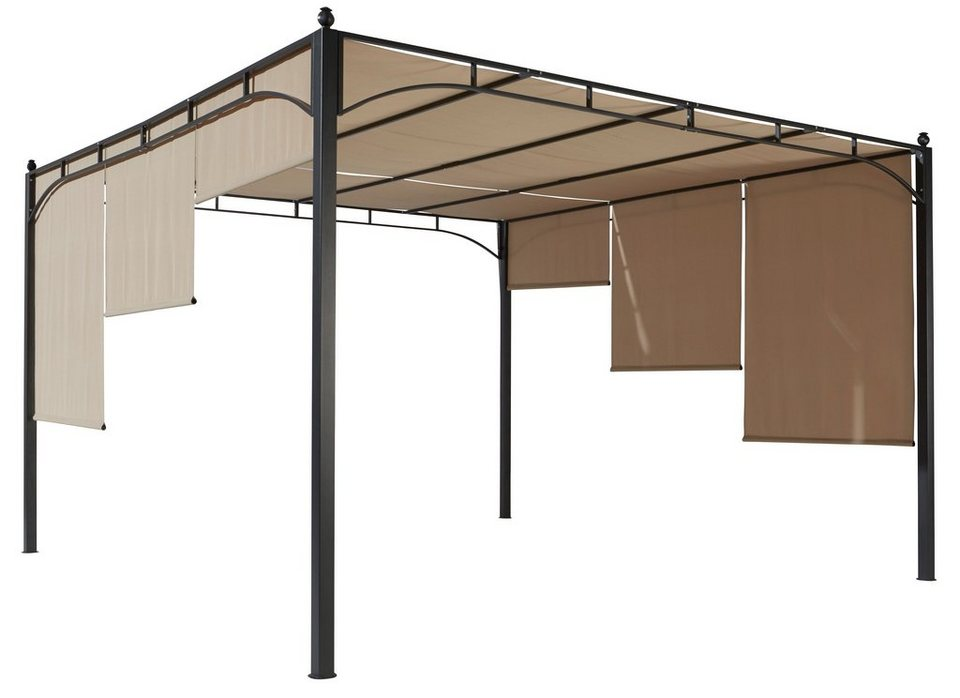 ersatzdach f r pavillon flachdachpergola sandfarben online kaufen otto. Black Bedroom Furniture Sets. Home Design Ideas