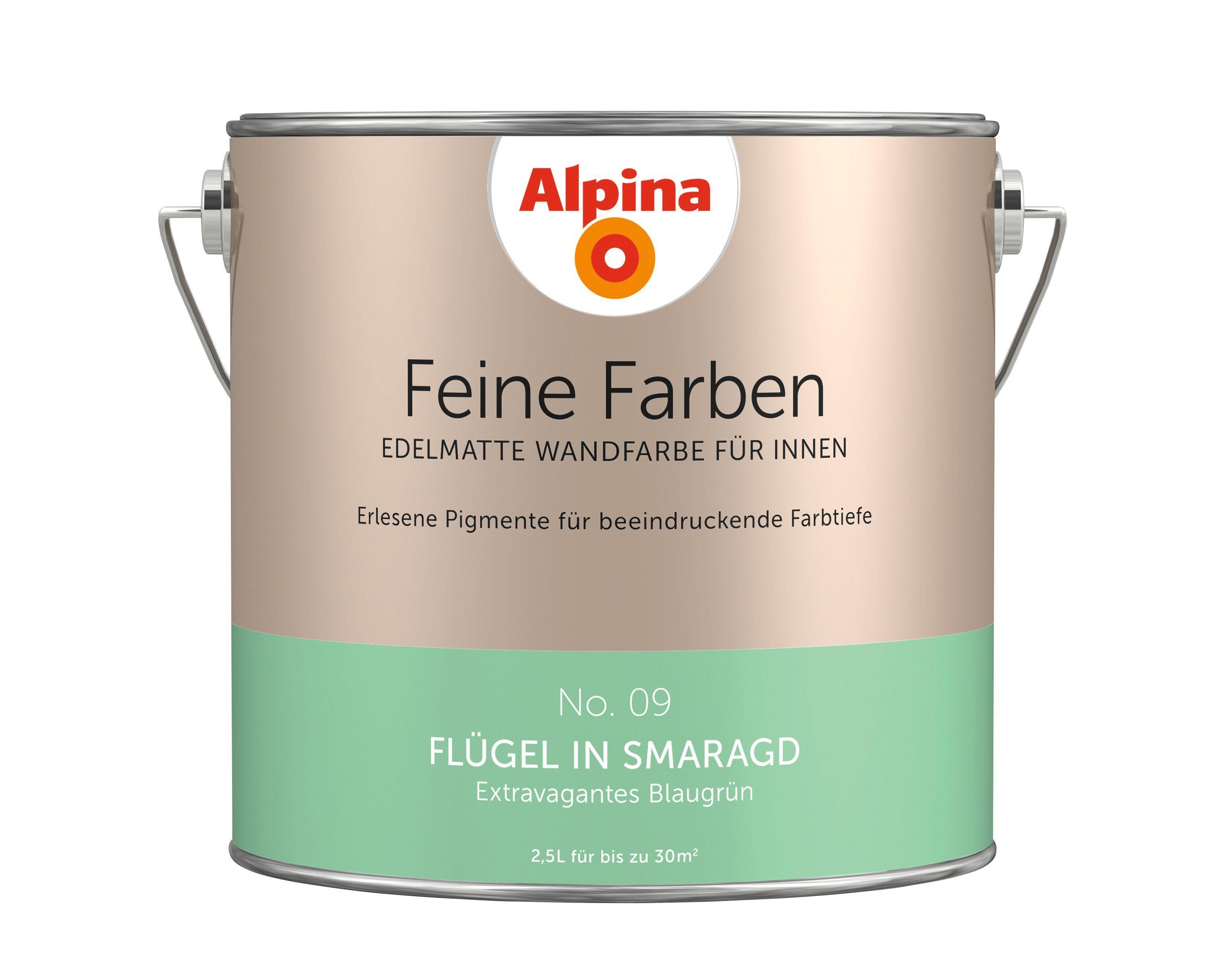 ALPINA Farbe »Alpina Feine Farben Flügel in Smaragd«, 2,5 l