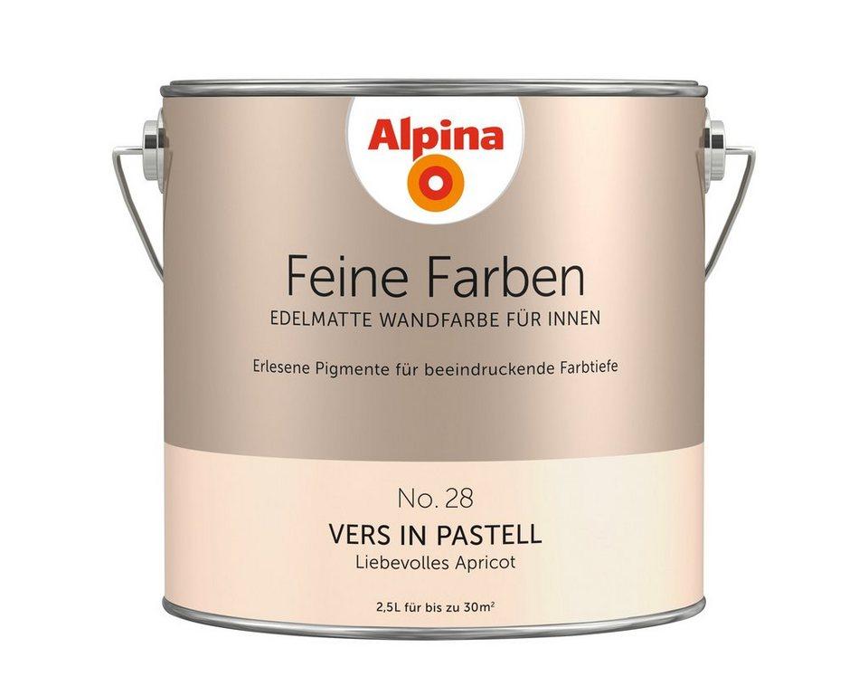 ALPINA Farbe »Alpina Feine Farben Vers In Pastell«, 2,5 L
