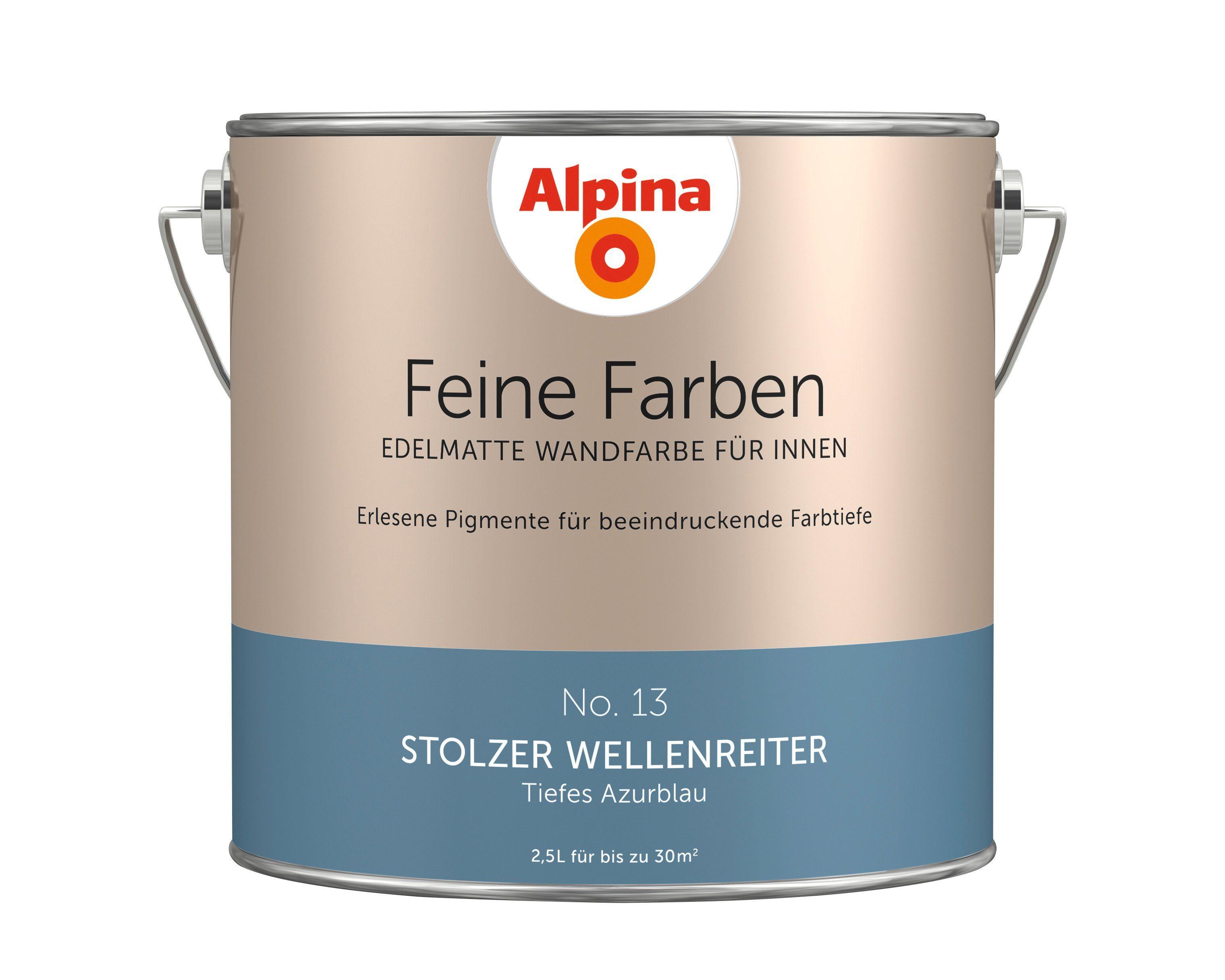 ALPINA Farbe »Alpina Feine Farben Stolzer Wellenreiter«, 2,5 l