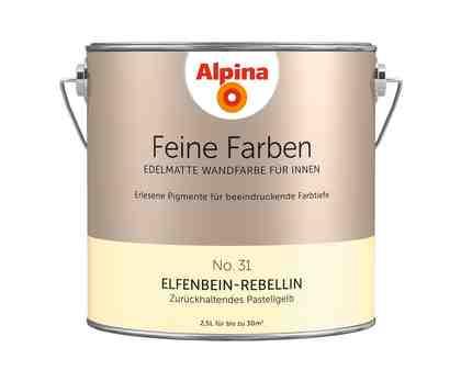 ALPINA Farbe »Alpina Feine Farben Elfenbein-Rebellin«, 2,5 l