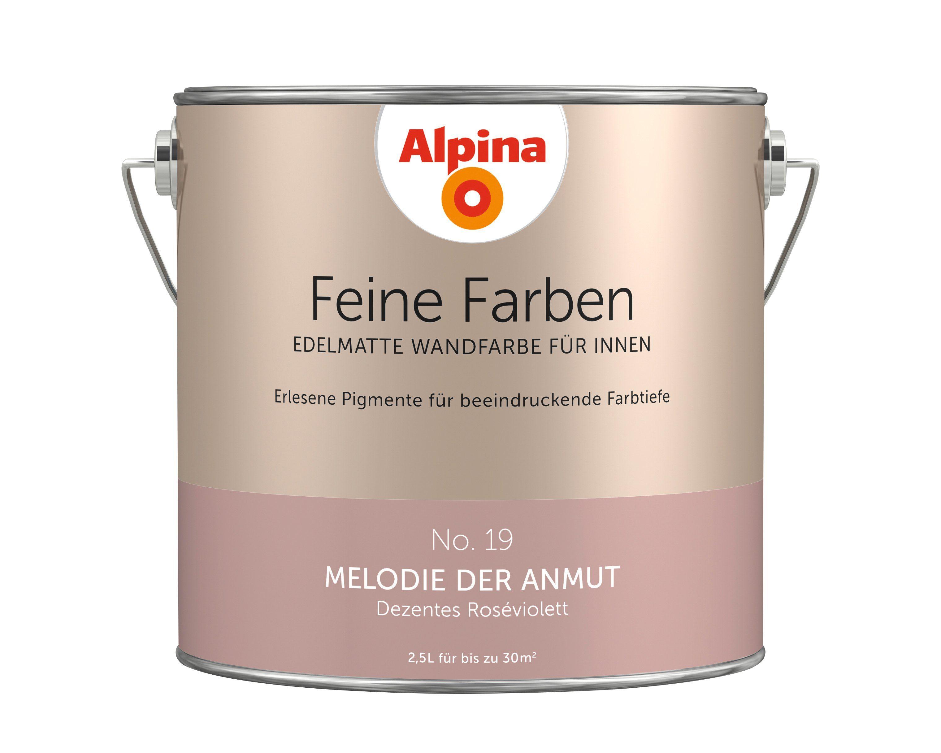 ALPINA Farbe »Alpina Feine Farben Melodie der Anmut«, 2,5 l