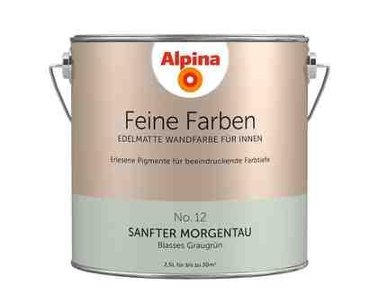 ALPINA Farbe »Alpina Feine Farben Sanfter Morgentau«, 2,5 l