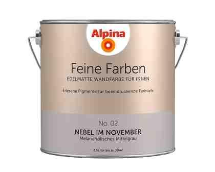 ALPINA Farbe »Alpina Feine Farben Nebel im November«, 2,5 l