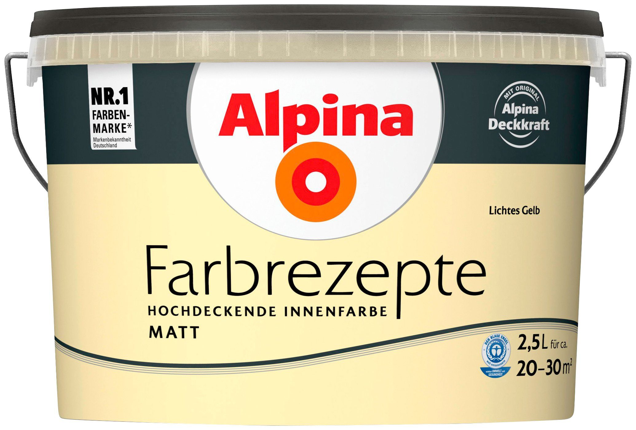 ALPINA Wand- und Deckenfarbe »Farbrezepte - Lichtes Gelb«, 2,5 l, matt