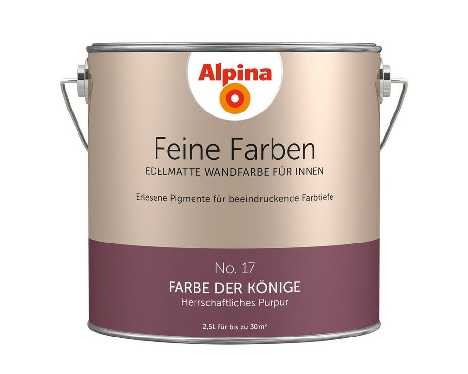 alpina farbe alpina feine farben farbe der k nige 2 5 l. Black Bedroom Furniture Sets. Home Design Ideas