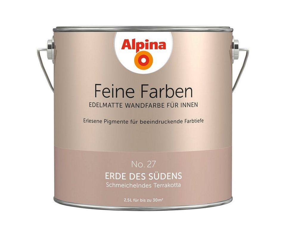 alpina farbe alpina feine farben erde des s dens 2 5 l online kaufen otto. Black Bedroom Furniture Sets. Home Design Ideas