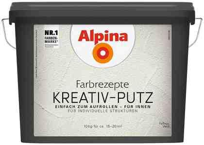 ALPINA Innenfarbe »Farbrezepte - Kreativ-Putz«, weiß, 10 kg