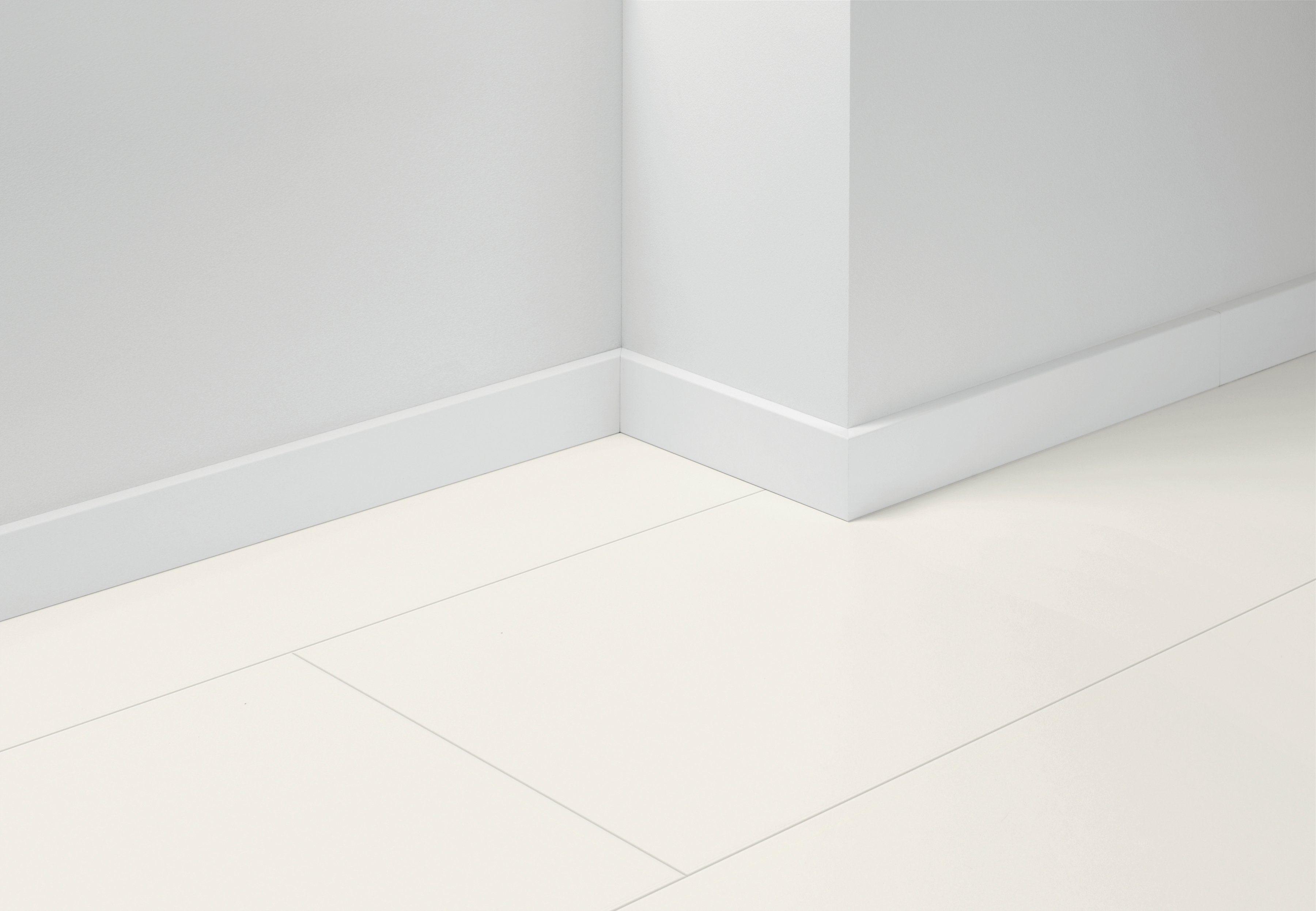PARADOR Sockelleiste »Basic uni weiß«