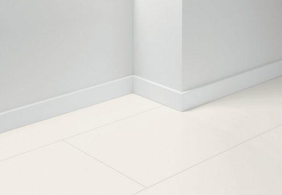 PARADOR Set: Sockelleiste »SL 18 Uni weiß D001«, 5er-Set, Höhe 7 cm