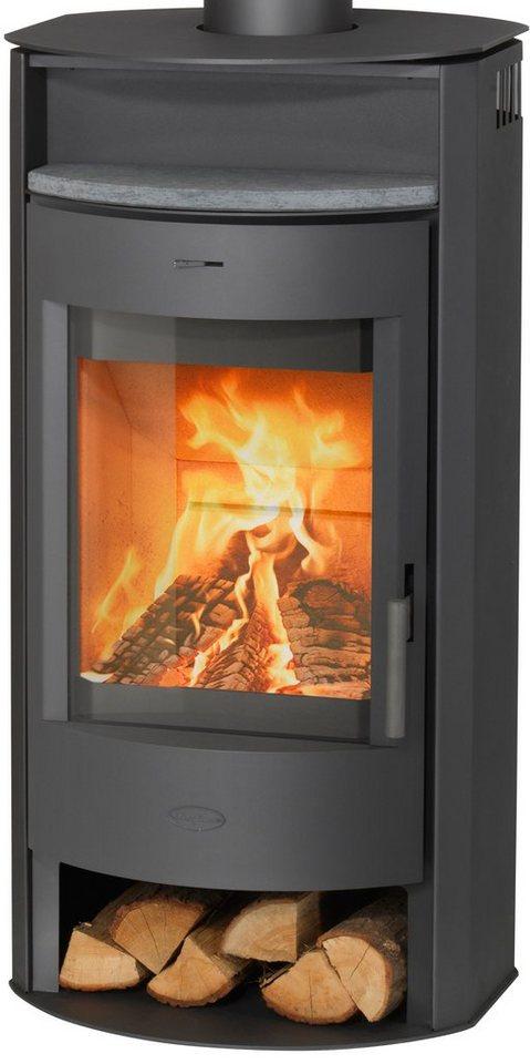 Fireplace Kaminofen »Prag«, Stahl, 6 kW, Panoramasichtscheibe, Konvexe Form in grau