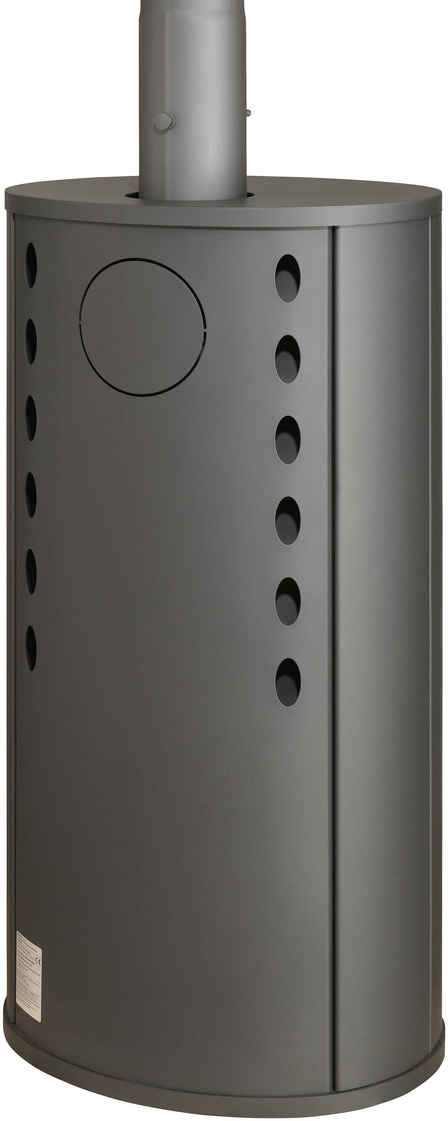 THERMIA Kaminofen »Olympus«, Stahl, 7 kW, ovale Form, abgerundete Sichtscheibe