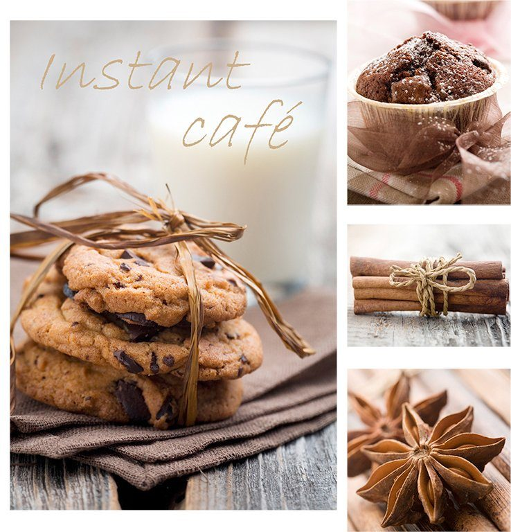 GRAHAM & BROWN Leinwandbild »Cookies, 5-tlg.«