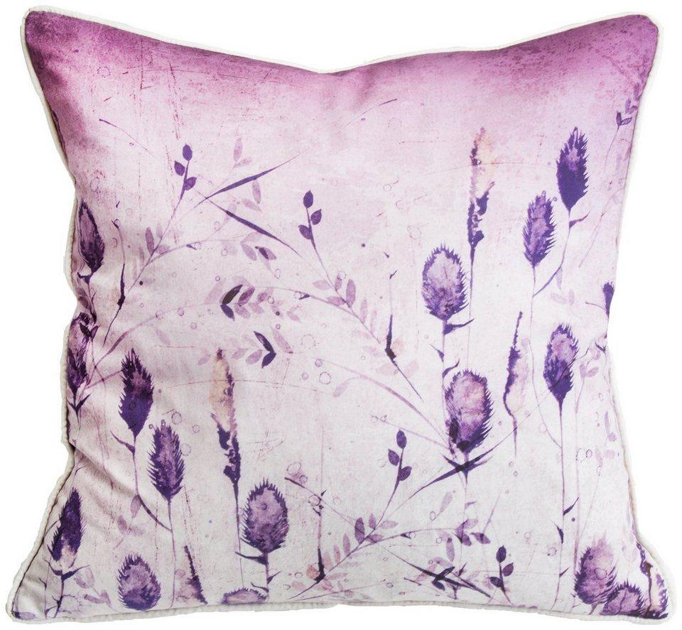 Zierkissen »SeedHead Silhouette« in lila