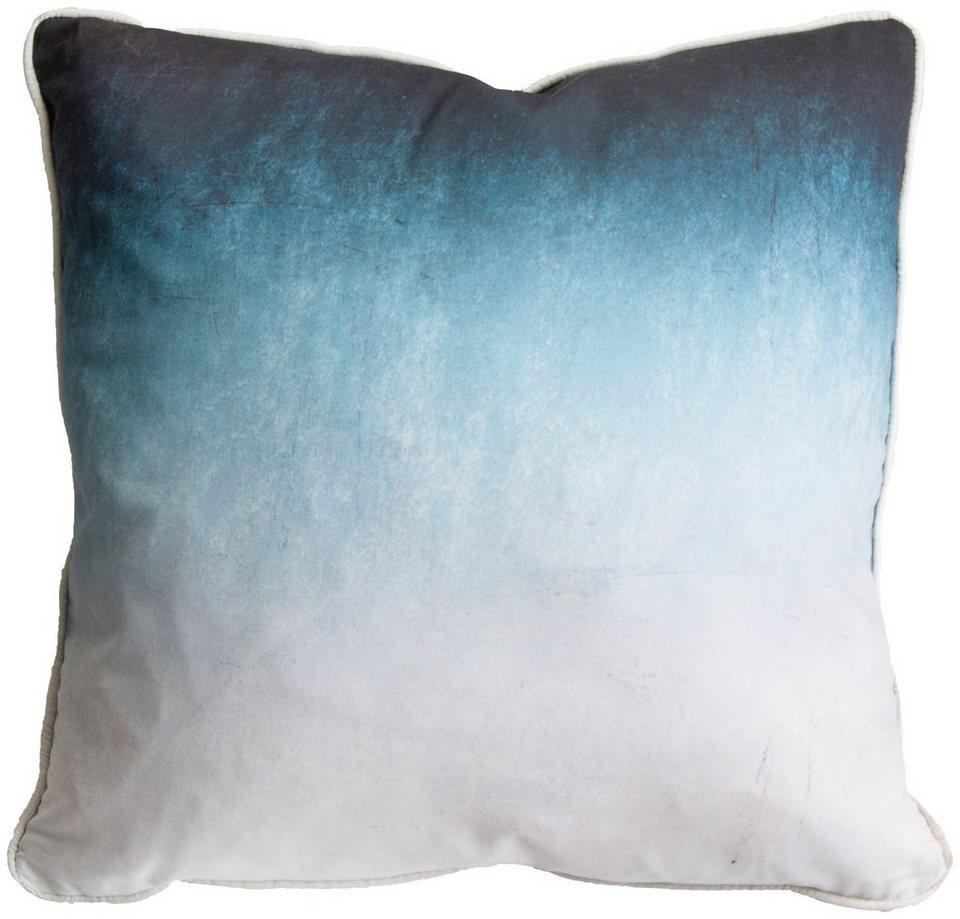 Zierkissen »Ink Ombre« in blau