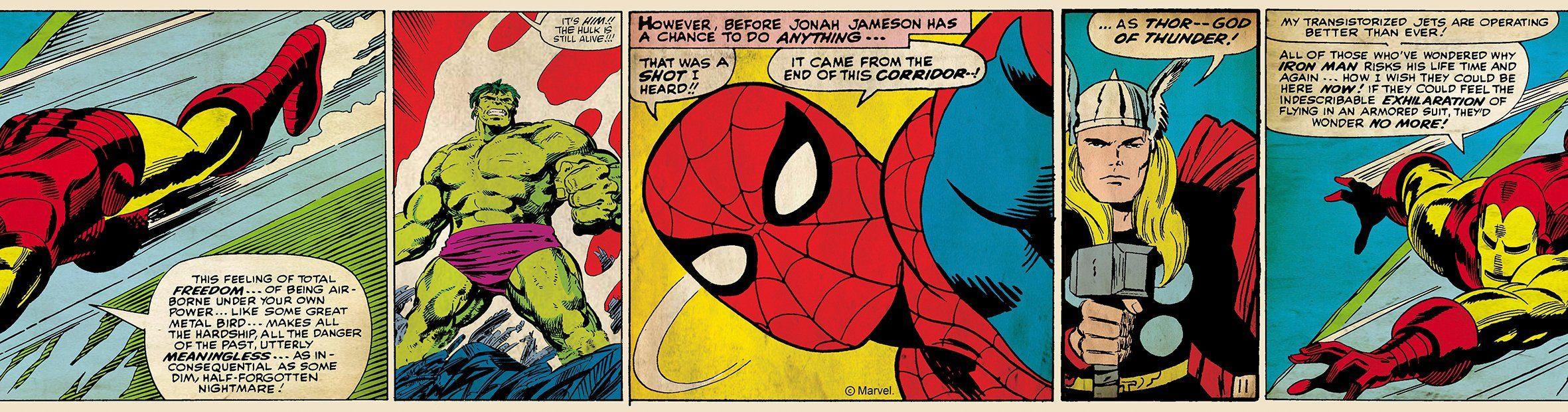 Bordüre »Marvel Action Heroes«