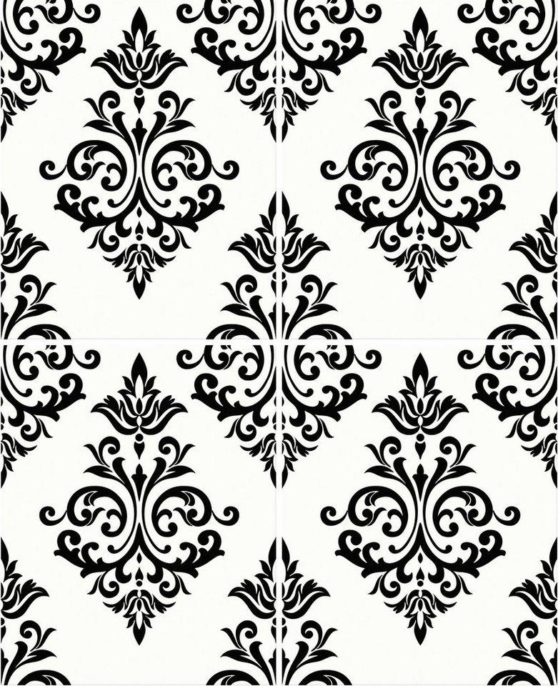 Papiertapete »Pallade« in schwarz