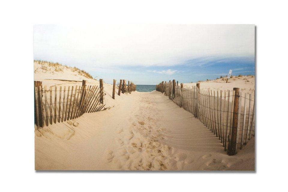 Leinwandbild »Strandweg« in natur