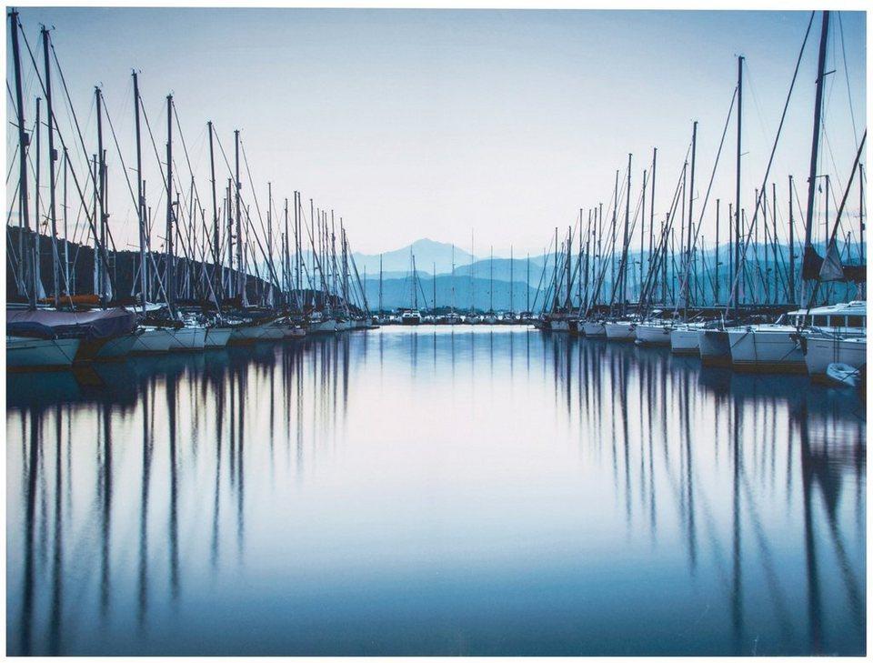 Leinwand »Hafen« in bunt