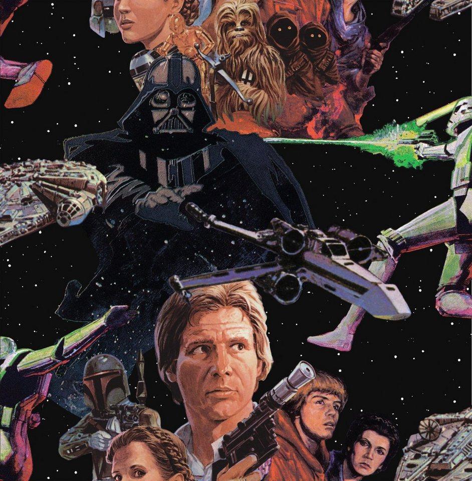 Papiertapete »Star Wars« in bunt