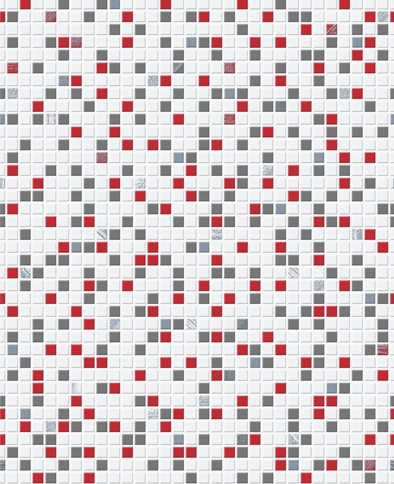 Papiertapete »Checker bunt« in weiß