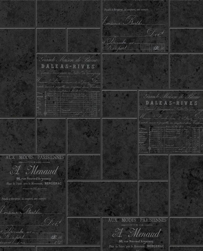 Vliestapete »Pariser Kohle« in schwarz