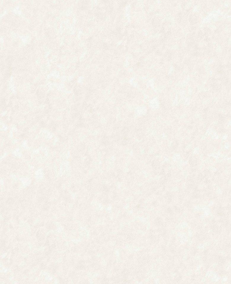 Vliestapete »Velvet de Luxe«, weiß in weiß