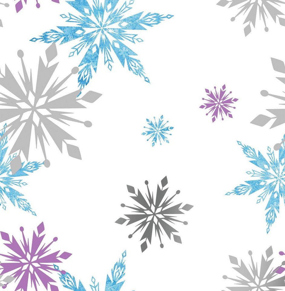 Papiertapete »Schneeflocken« in bunt