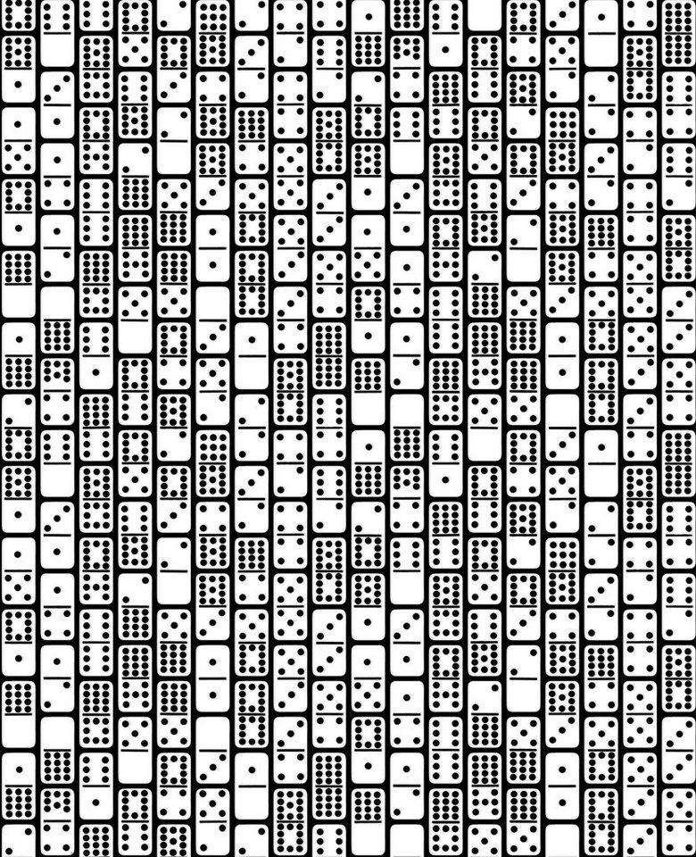 Vliestapete »Domino« in schwarz