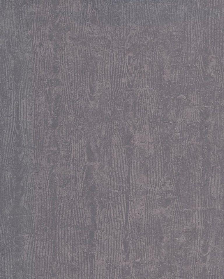 Vliestapete »Treibholz«, dunkelgrau in grau