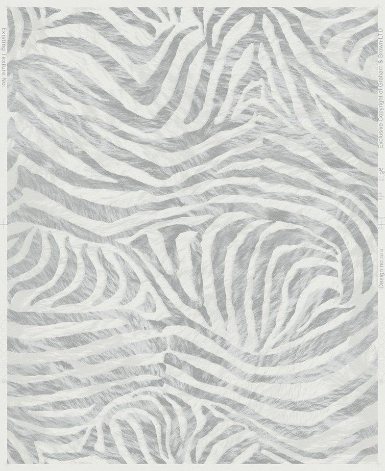 Vliestapete »Zebra« in weiß