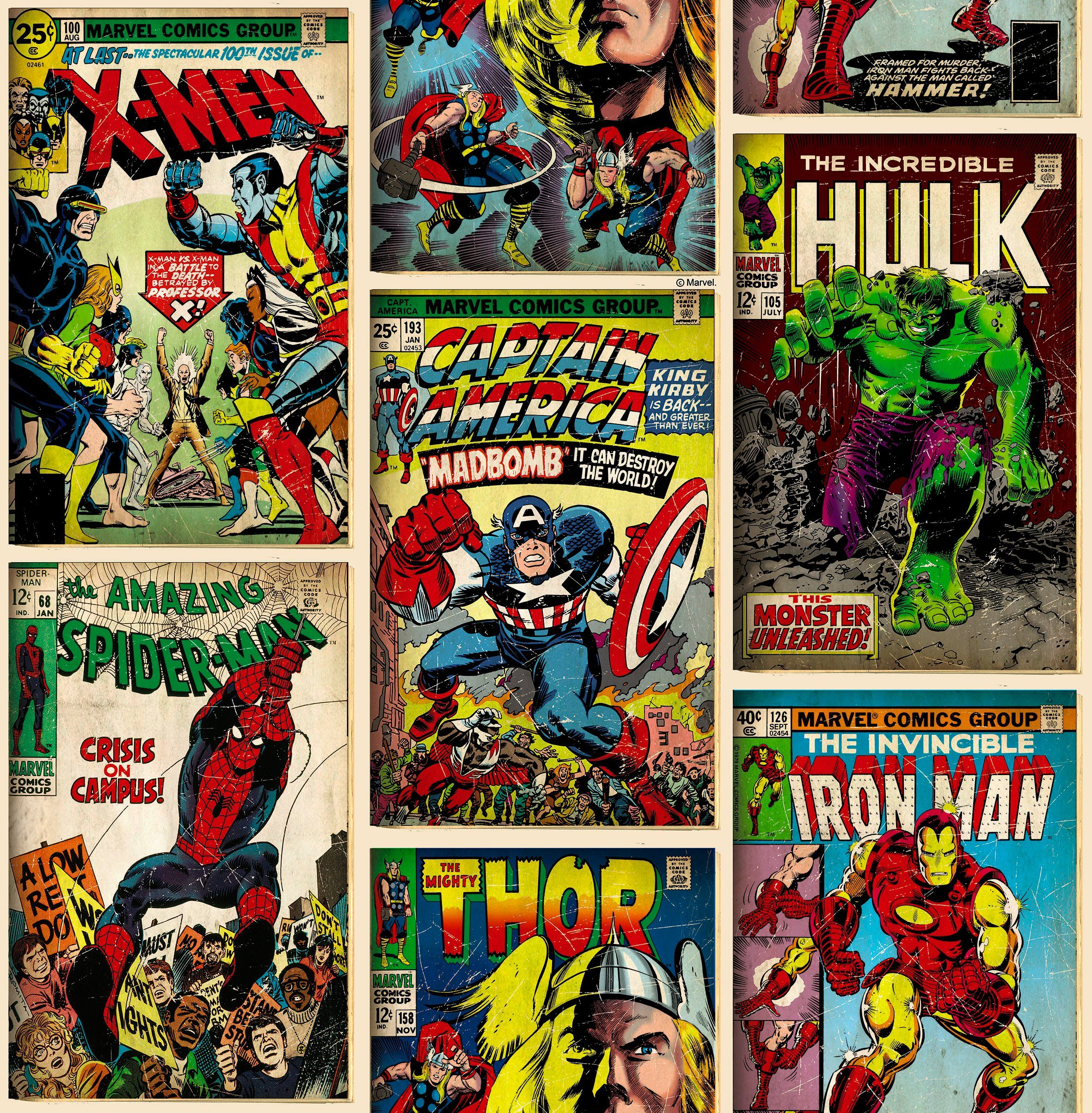 GRAHAM & BROWN Papiertapete »Marvel Action Heroes«