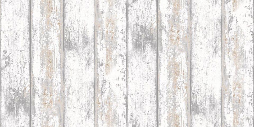 Vliestapete »Holz« in natur
