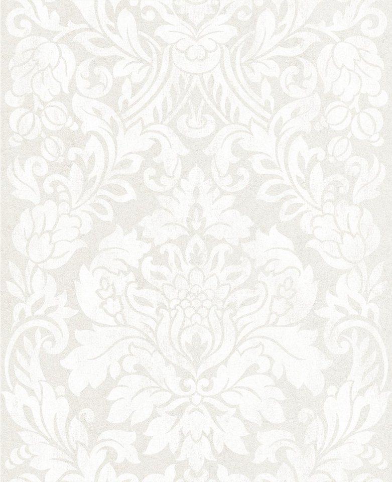 Vliestapete »Gloriana Perl« in weiß